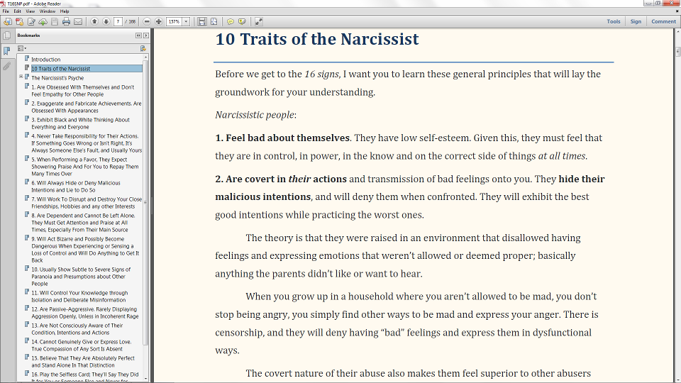 How do you know if you are dating a narcissist